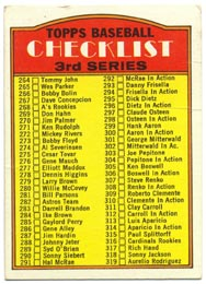 1972 Topps Baseball Cards      251     Checklist 264-394